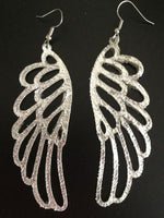 Golden Leather Angel Wing Earrings