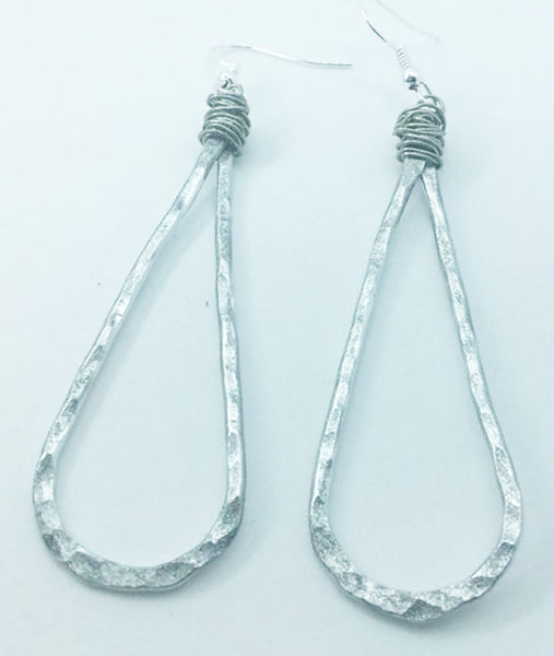 Teardrop-shaped Aluminum Earrings