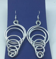 Whirlwind Aluminum Earrings