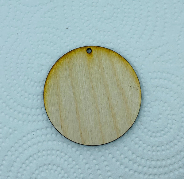 Wood earring blank laser cut shapes-Circle