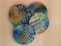 Coasters Set- African Print Fabric Collage