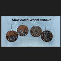 Wood Mudcloth Earrings from Instagram