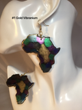 Africa Continent Black Panther Inspired Earrings