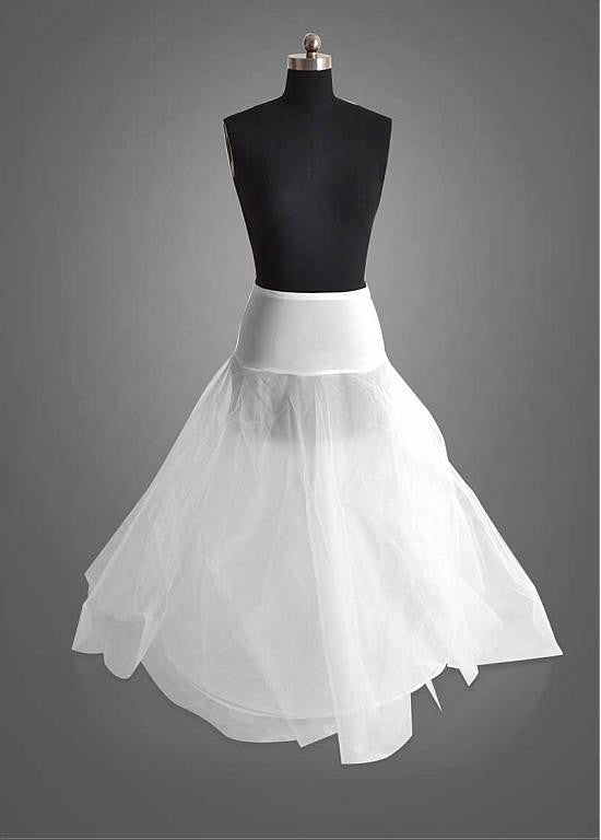 Jersey & Tulle White Wedding Petticoat With Elastic Band - The Wedding LookBook