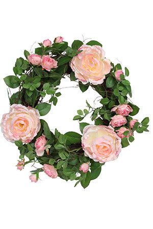 Gisela Graham Wild Rose Wreath