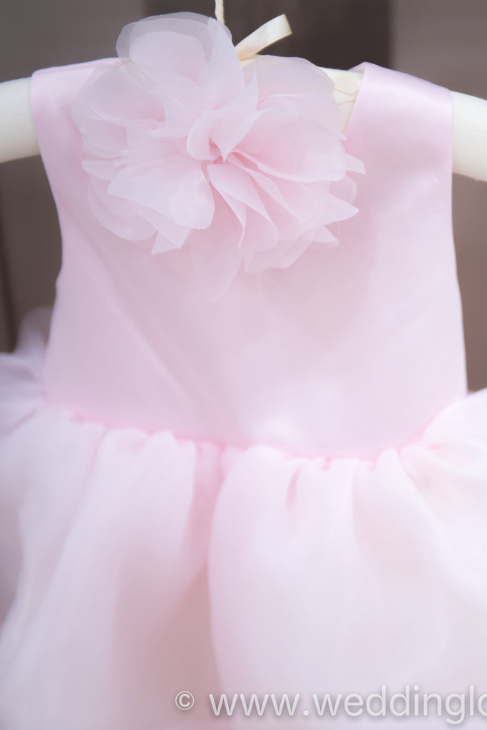 Surrey Wedding Shop Traditional pink Flower Girl Dress