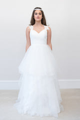 Surrey Wedding Shop chiffon & satin Natural waist beaded wedding dress