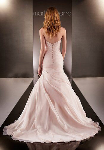 Stunning fishtail sweetheart wedding dress in blush - The Wedding LookBook