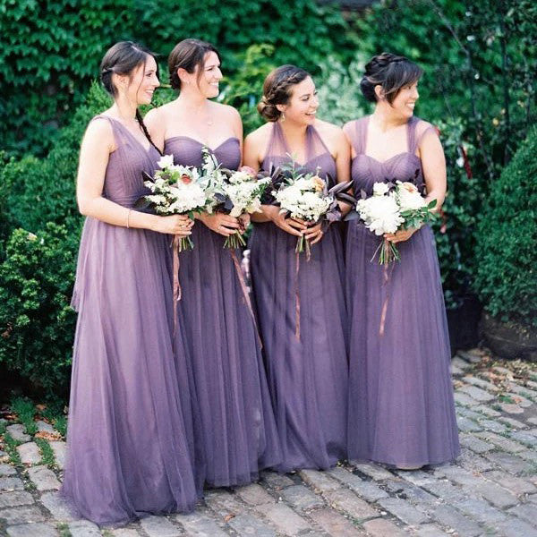 Gorgeous Purple A-Line Bridesmaid Dress