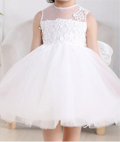 Surrey Wedding Shop Beautiful Lace Detailed Flower Girl Dress - The Wedding LookBook