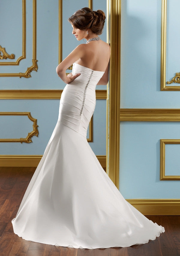Elegant Beautiful Mermaid Satin Wedding Dress - The Wedding LookBook