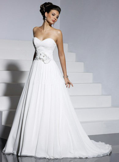 Amazing Satin & Organza A-line with Sweetheart Neckline Wedding Dress - The Wedding LookBook
