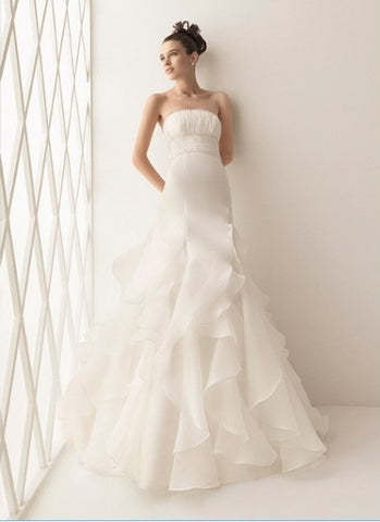 Striking Tulle & Satin Mermaid/Fishtail with Sweetheart Neckline and lace applique Wedding Dress - The Wedding LookBook