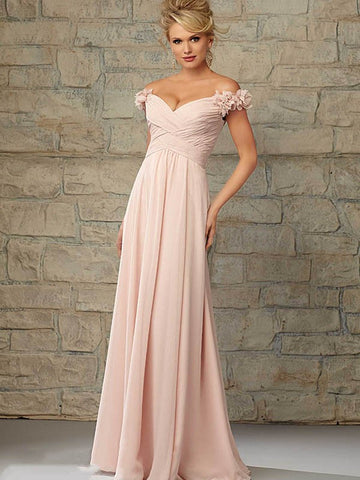 Surrey Wedding Shop Beautiful A-Line Princess Sleeveless Off the Shoulder Bridesmaid Dress - The Wedding LookBook