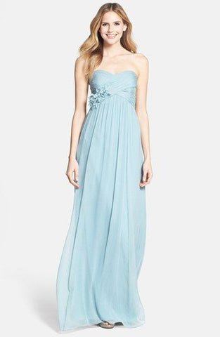 Amazing Sweetheart Light Blue Bridesmaid Dress