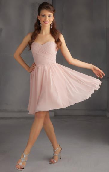 Surrey Wedding Shop Beautiful Knee-Length Light Pink Bridesmaid dress - The Wedding LookBook