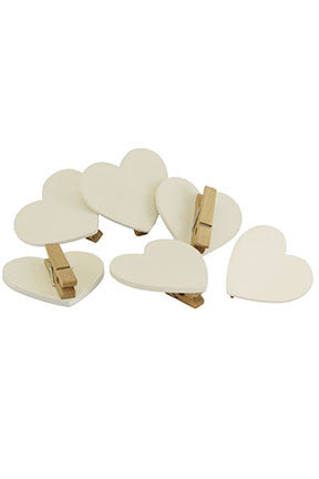 Gisela Graham Simple Heart Pegs