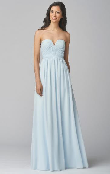 Stunning Light Blue A-Line Bridesmaid Dress - The Wedding LookBook