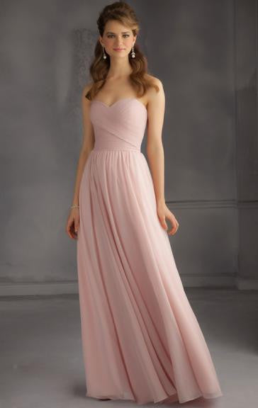 Surrey Wedding Shop Beautiful Chiffon Pink Bridesmaid Dress - The Wedding LookBook