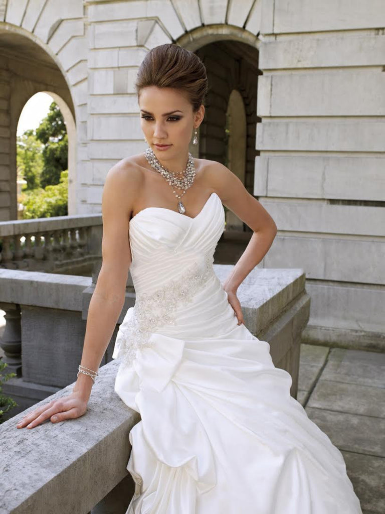 Stunning princess style dress with gorgeous detailing - The Wedding LookBook