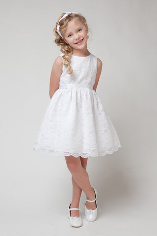 Flower Girl Dress With Lace Detailing - The Wedding LookBook