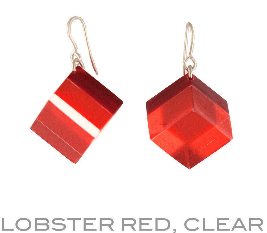 lobster red, clear