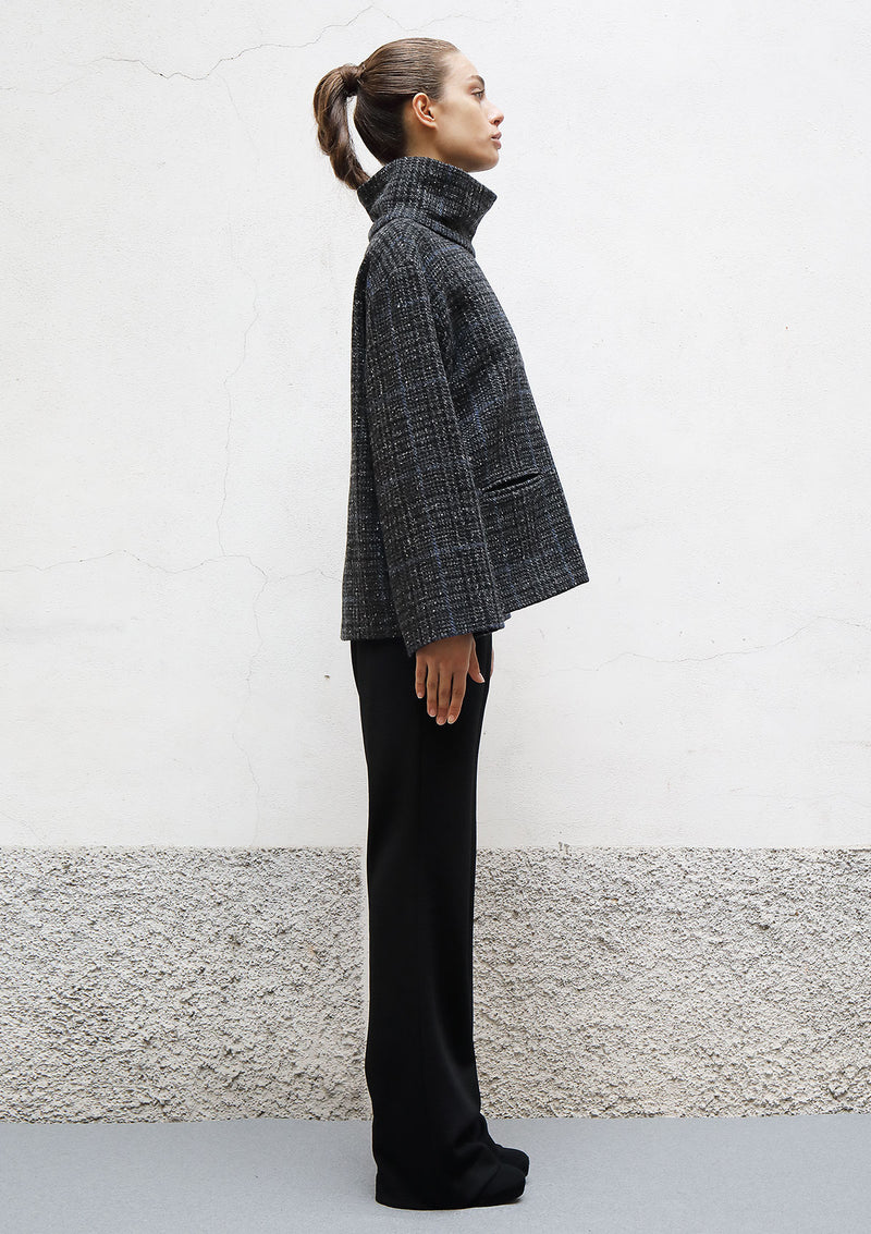 Box wool coat