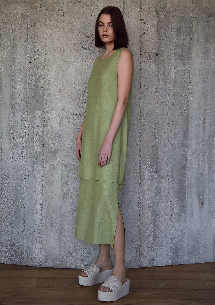 Double hemp silk dress