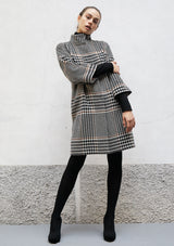 High collar wool coat