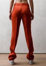 Plat trousers | Terracotta