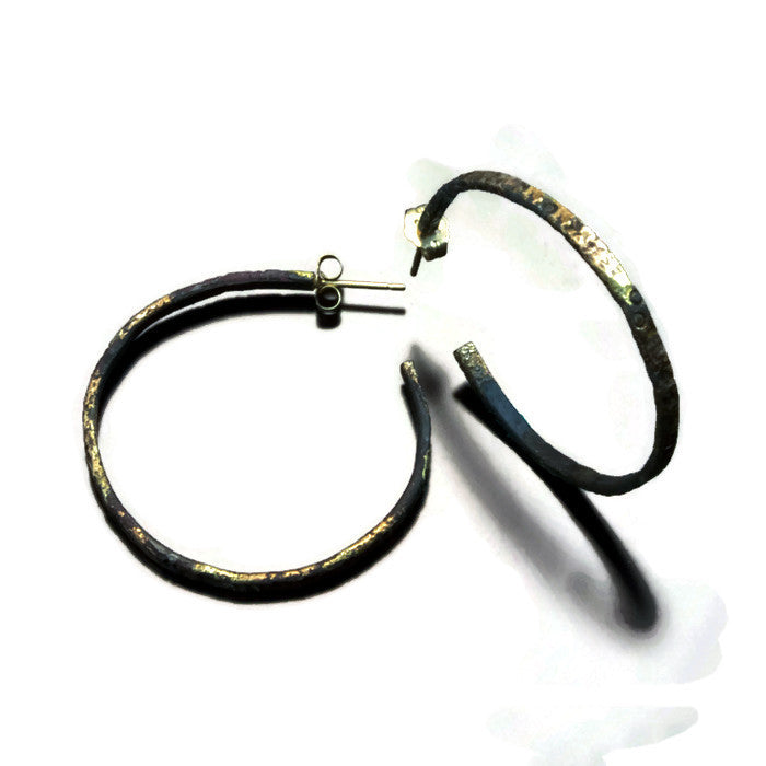 Hoop Earrings 20 Karat Gold fused to steel