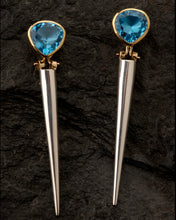 Load image into Gallery viewer, Blue Topaz Enhancer Earrings