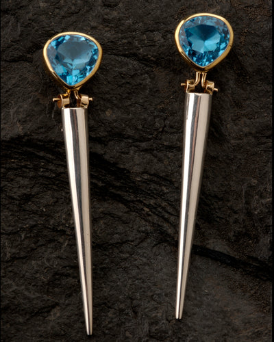 Blue Topaz Enhancer Earrings