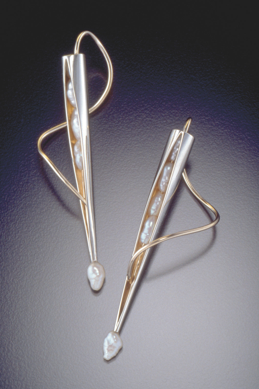 Seed Pearl Pod Earrings