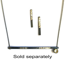 Load image into Gallery viewer, Minimalist necklace Steel fused with 20 Karat Gold sterling set simulated faceted Topaz