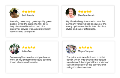 Five Star Brides Testimonials