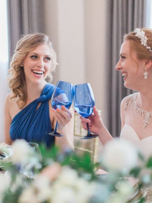 Wedding Cheers Maid Of Honour Bride Royal Blue Friends