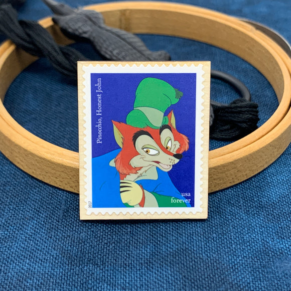 Honest John Pinocchio Disney Villain Needle Minder