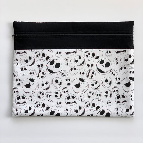 Jack Skellington Fabric Project Bag - Medium