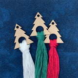Christmas Tree Thread Drops (Hanging Ring Style) - Set of 5