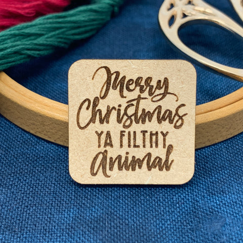 Merry Christmas Ya Filty Animal - Needle Minder
