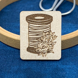Floral Thread Spool - Needle Minder