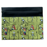 Jack & Sally on Green Project Bag - Nightmare Before Christmas