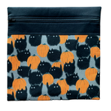 Belinda's Big Kitty Project Bag - Orange (Alexander Henry)