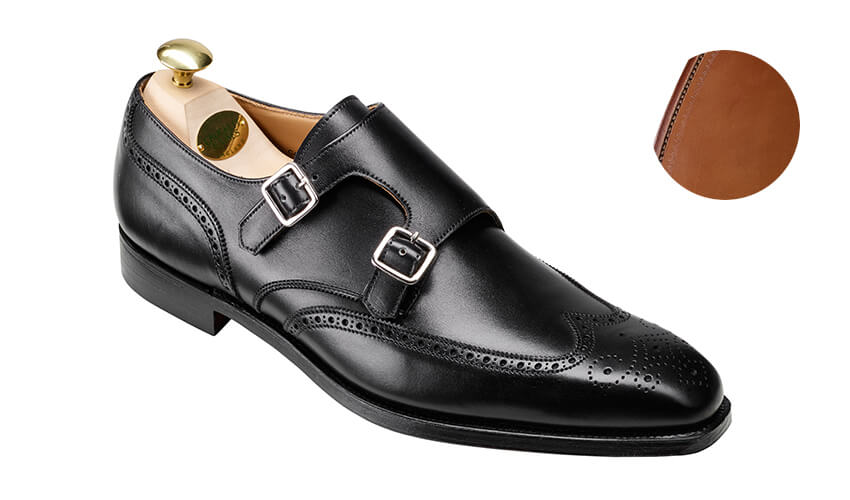 Gower 2 Black Calf | Crockett & Jones