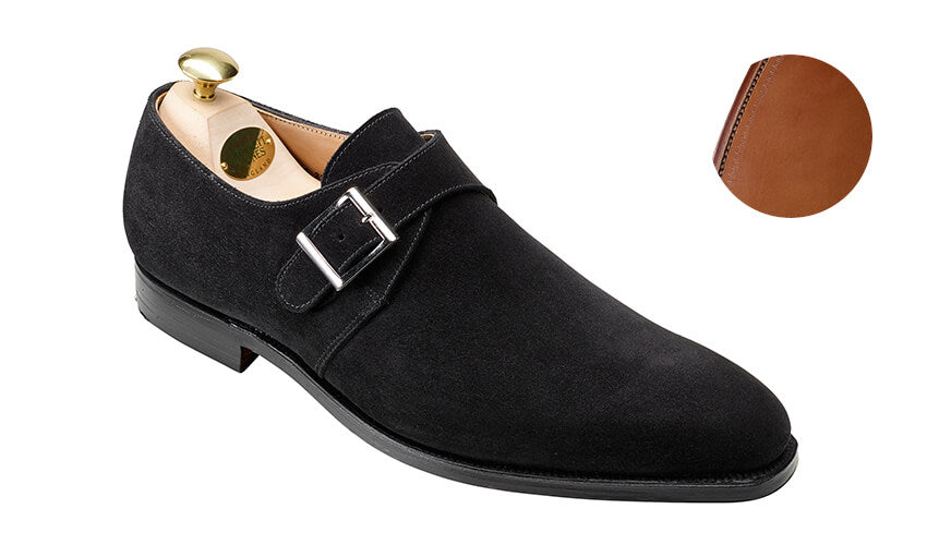 Monkton Black Suede | Crockett & Jones