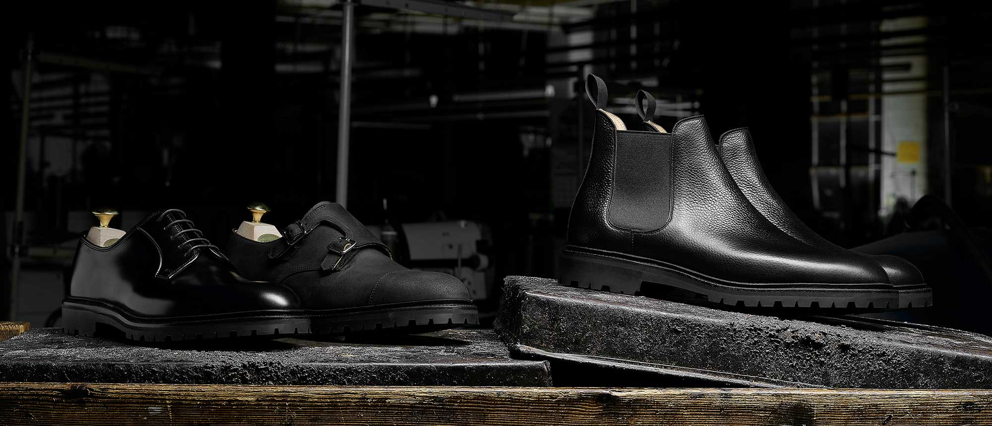 Crockett & Jones - The Black Editions Details... Chelsea XI