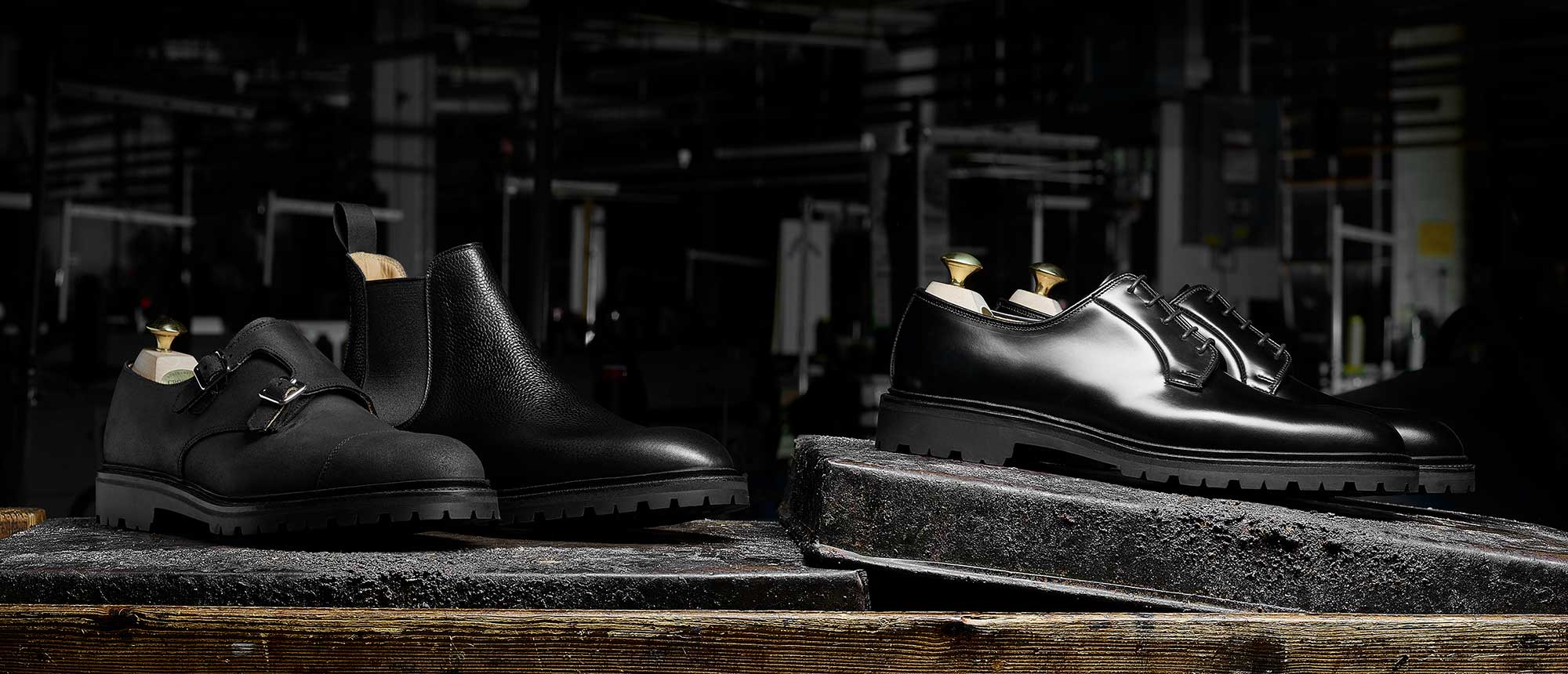 Crockett & Jones - The Black Editions Details... Lanark 3