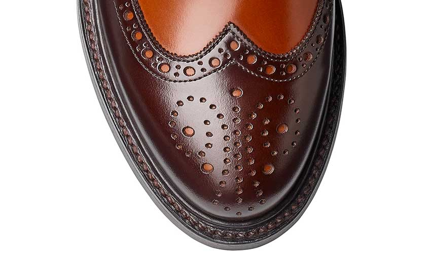 Luna | Dark Brown & Tan Cavalry Calf | Crockett & Jones