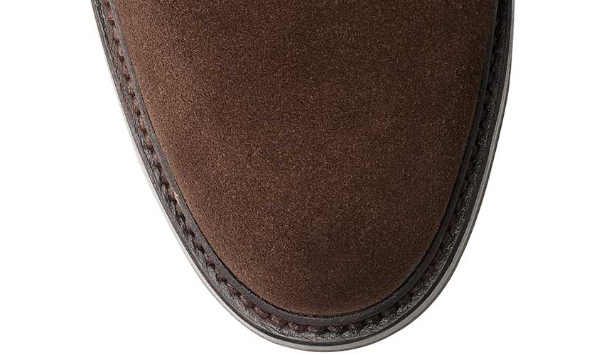 Lanark 3 | Dark Brown Suede | Crockett & Jones